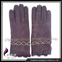 CX-A-59F 2015 Winter Newest Ladies Sheep Fur Leather Gloves