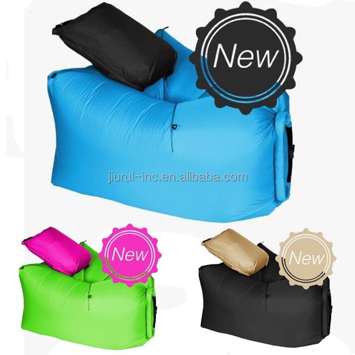 the new style Inflatable Air Sleeping Bag Lamzac Hangout with pillow
