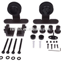 Black Steel Top Mount American Barn Wood Sliding Door Hardware Track Set