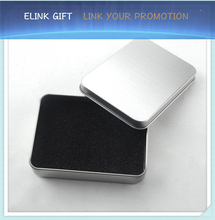 fast delivery blank gift box aluminum tin box with sponge