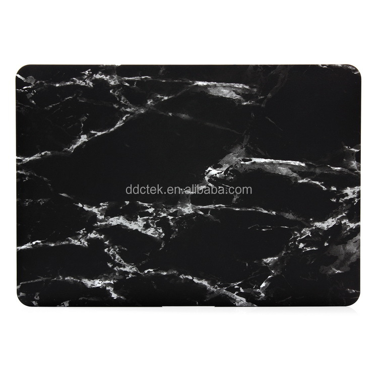 HOT marble pattern rubberized hard plastic case laptop protect case for Macbook Pro Retina 13 inch cover white black color