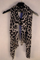 New design embroidered feather solid long shawl scarf
