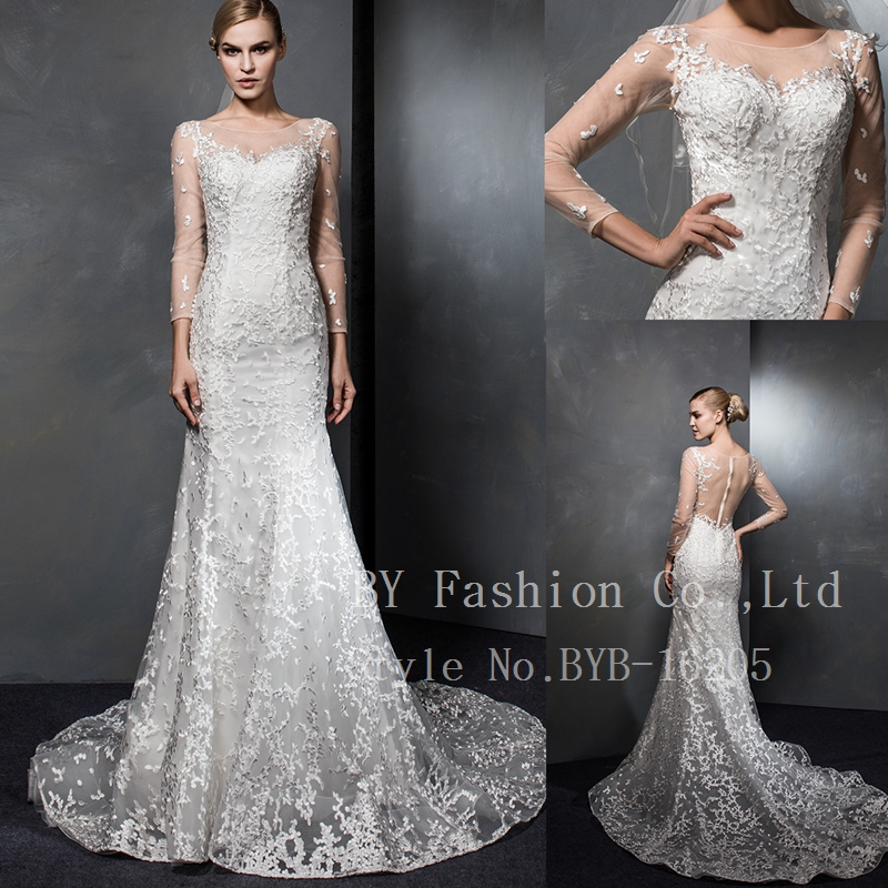 Wholesale Elegant SImple Alibaba Bridal Gown 2017 A Line Special Lace Wedding Dresses