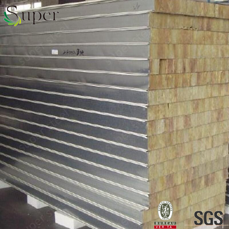 Rock Wool wall insulated panels aluminum rockwool sandwich panel