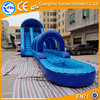 Giant custom slip n slide inflatable, blue used swimming pool slide for sale