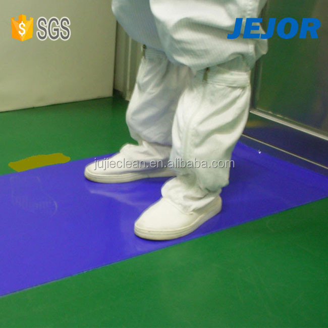 36'' x36'' White Blue Disposable 30 Layers Entrance PE Cleanroom Sticky Mat