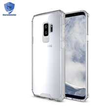 2018 Newest For Samsung S9 case shockproof, 2 in 1 TPU PC Clear Case S9, S9 Case Bumper Air Cushion Wholesale