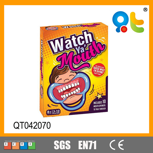 Popular family game friends game in party speak out watch ya mouth game with cards