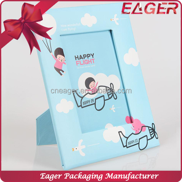Cute photo picture frame with stand, latest design of picture photo frame wholesale