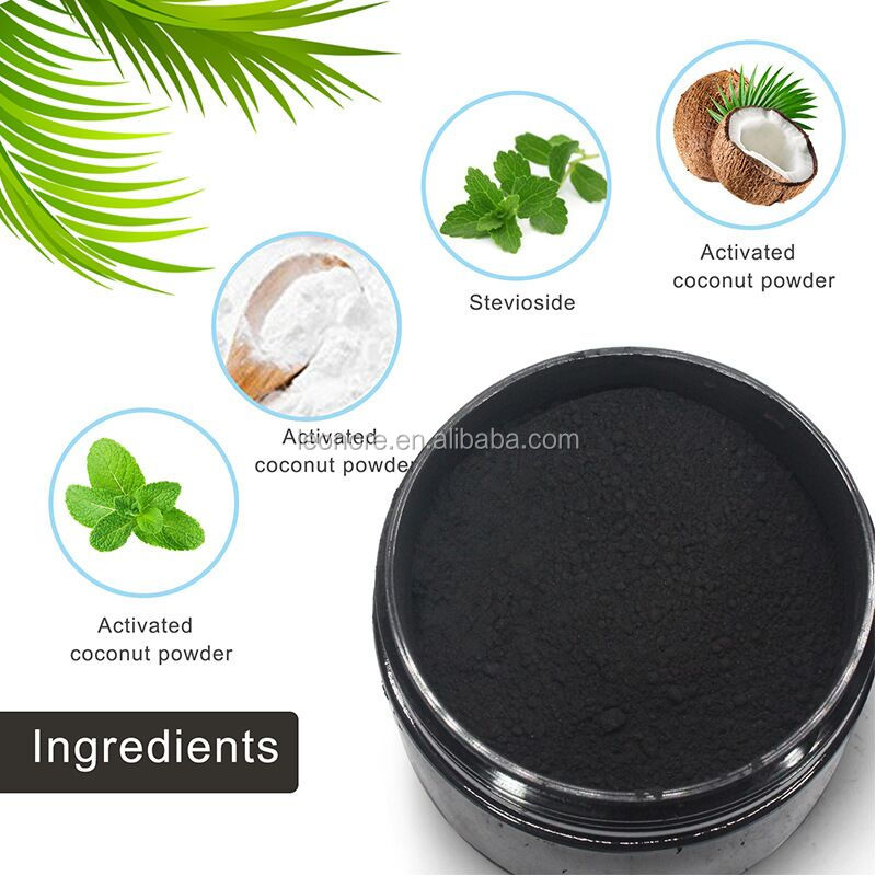 OEM/ODM Coconut shells Activated teeth whitening charcoal fda