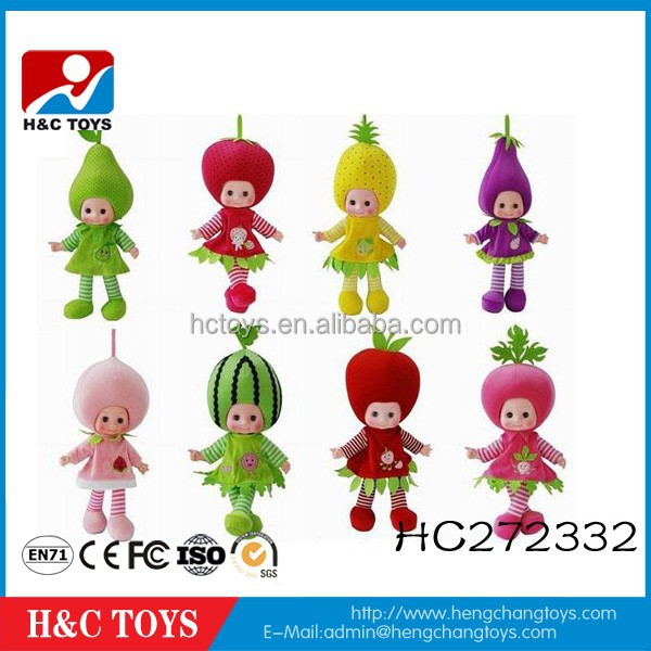 High quality fashion custom lovely fruits and vegetables doll 20 inch baby doll HC272332