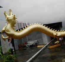 Giant golden inflatable dragon animal model for promotion
