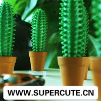Office&School cute potted spike pen cactus shape ballpoint pen