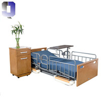 JQ- FHK-1 Low height steel frame Manual medical bed home patient nursing furniture for disabled people aged care facilities