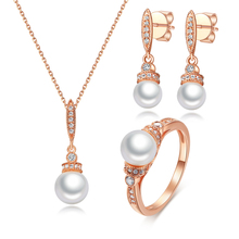 925 anello in Argento Sterling 92.5 Grossista Pearl Jewelry Set