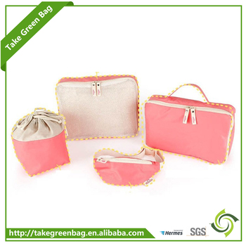 High quality kids travel clothes pink storage bag