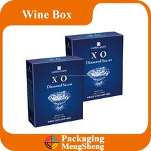 custom printed special paper bottle wine gift packaging box