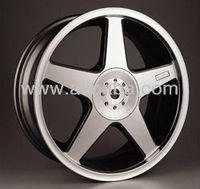 Light alloy wheel for car
