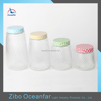 Hot Sale Bulk Glass Airtight Jars Set Empty Decorative Glass Jars And Lids