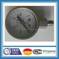 Lower mount 1.5'' 40mm all stainless steel bourdon tube pressure gauge