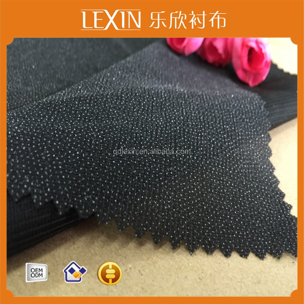 (3040)100%Polyester Tricot Micro PES Fusible Woven Interlining&Lining Fabric Garment Accessories