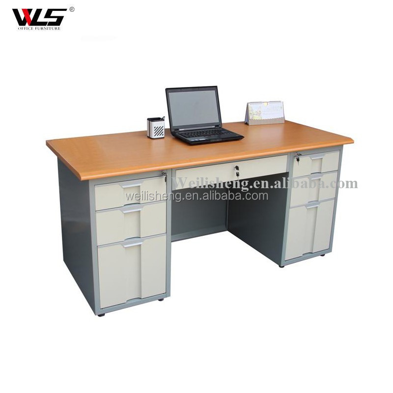 Design front steel office furniture tall reception desk reception tables