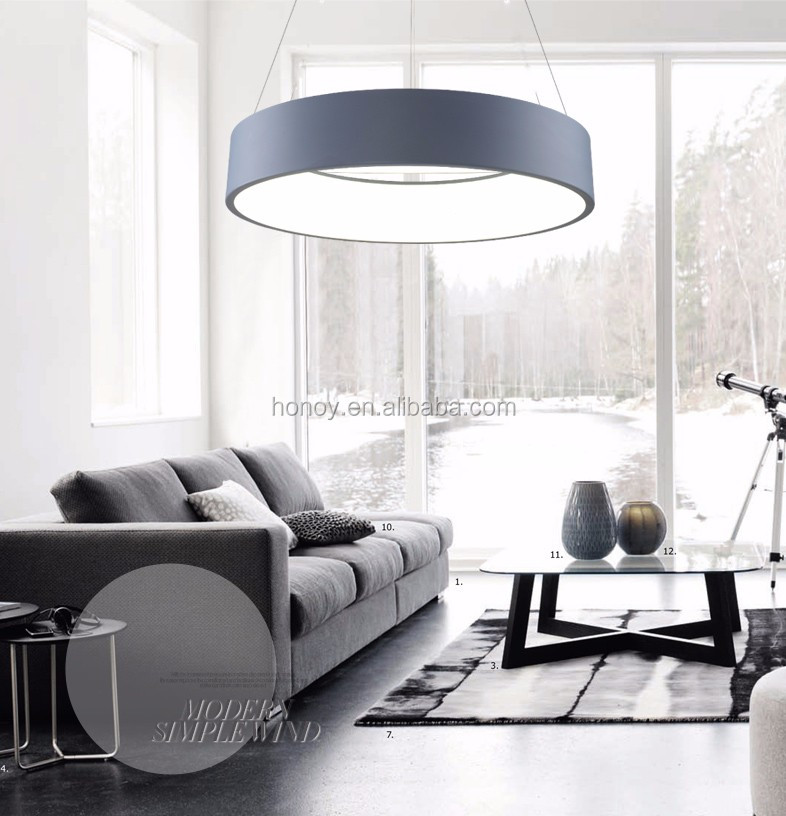 Round shape decorative led chandeliers pendant lights modern