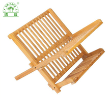 Wholesale eco-friendly bamboo wooden dish drainer rack kitchen