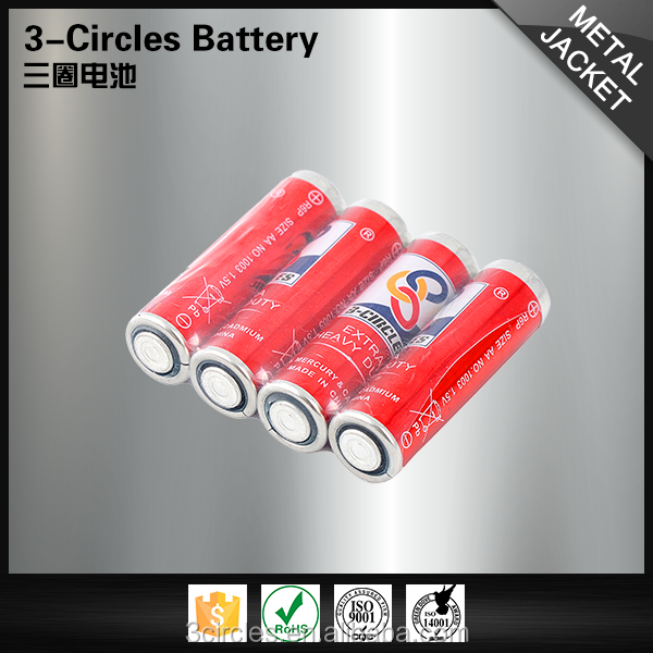China famous brand 1.5v aa size battery excellent quality r6