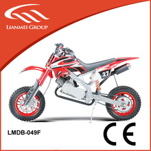 by pull start 49CC mini dirt bike with CE made in lianmei for sale