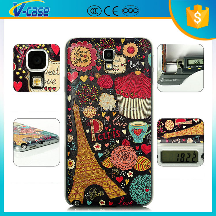 Colorful Printing Cute Animal Flower Soft TPU Phone Cover Case For Samsung Galaxy Note 3 Lite N7505