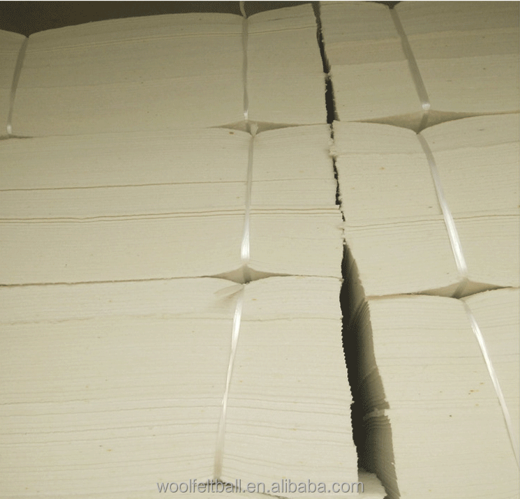 2mm 3mm 5mm 8mm 10mm thick hard white wool felt wholesale for industry
