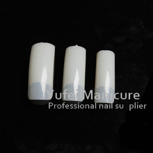 500pcs Nude French Acrylic UV Gel False Half Salon DIY Nail Art Design Tips/natural false nail