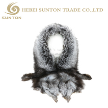 2017 Hot Sale Fashion Cheap New Desgin Lady's Silver Fox Fur Shawl