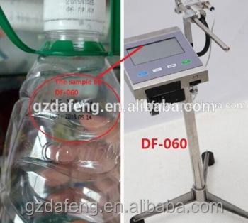 Portable automatic industrial ink jet date code printer for plastic water PET bottle