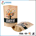 FDA stand up dry fruit packaging with logo print