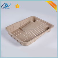 100% biodegradable sugarcane cake plate, high quality meal plate,disposable tableware