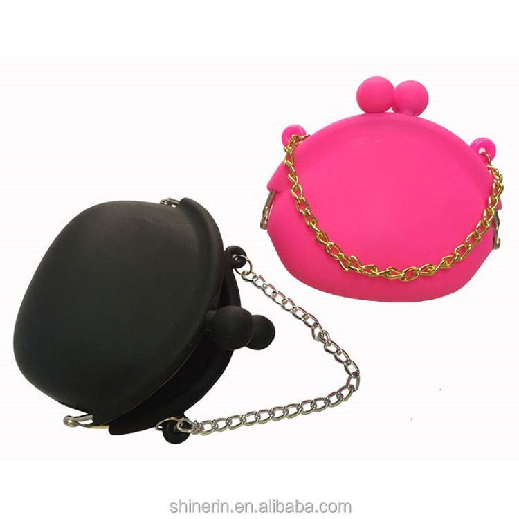 Wholesale Cheap Silicone Coin Purse Key Chain Roped Mini Tote Wallet