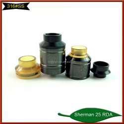 2018 Kindbright 1:1 clone Sherman 25 RDA/Kayfun Prime RTA/Flave Tank 24mm with 316ss material in stock for wholesale