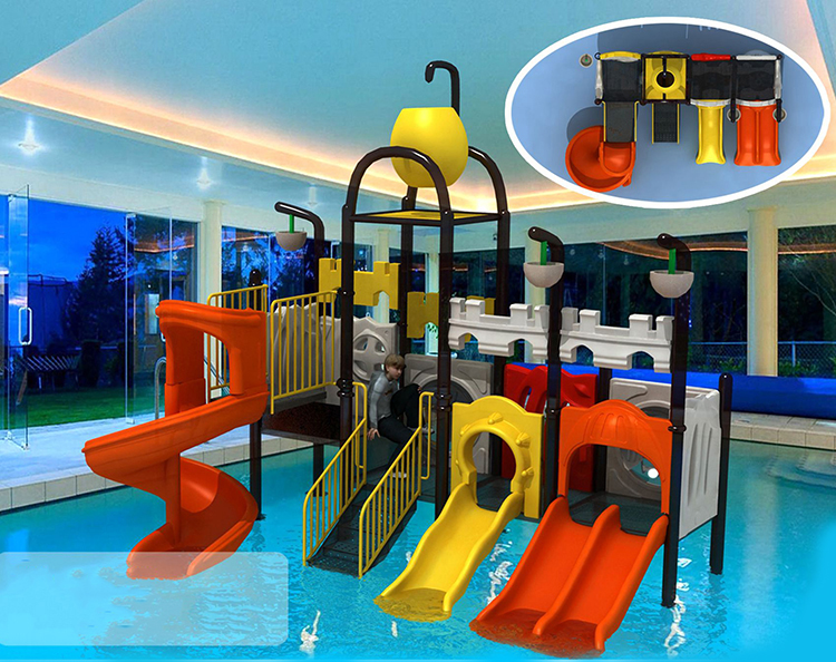 Customized kids outdoor playground slides for water park HF-G139B