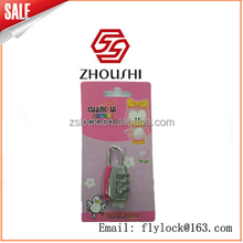 JinHua ZHOUSHI lock wholesale Lovely Resettable 3 Digit Combination Password Door Digital Lock Padlock For Luggage Cabinet