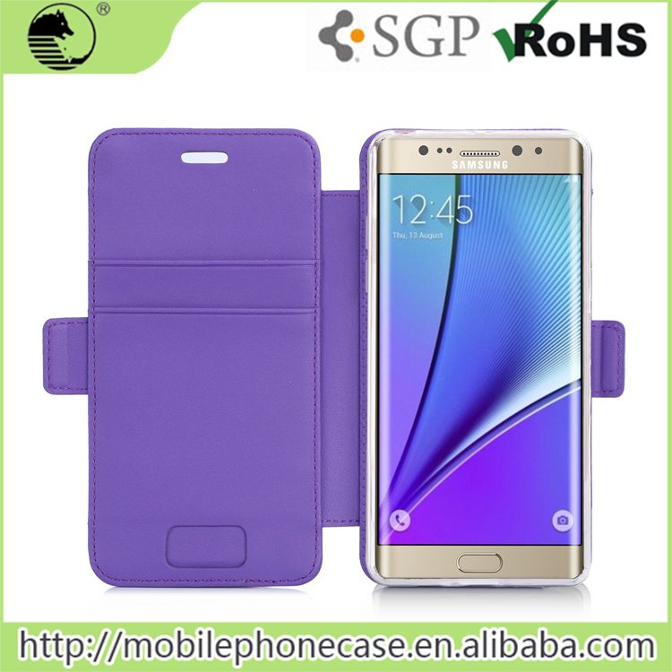 TPU Leather Flip Case Cover for Samsung Note7 Wallet Case