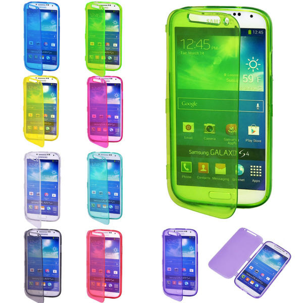 Clear Flip TPU Skin Gel Silicone Case Cover For SAMSUNG GALAXY S4 S 4 IV i9500
