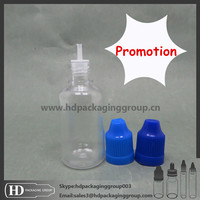 Promotion! 30ml PET e juce e liquid plastic empty bottle with child proof cap