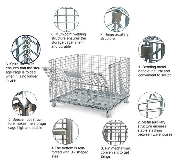 Wire mesh rolling trolley  storage security container