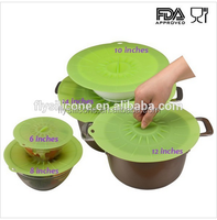 FDA standard 100% food-grade silicone material silicone suction lid set