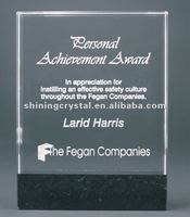 Fusion Glass with Genuine Marble Base Trophy Award