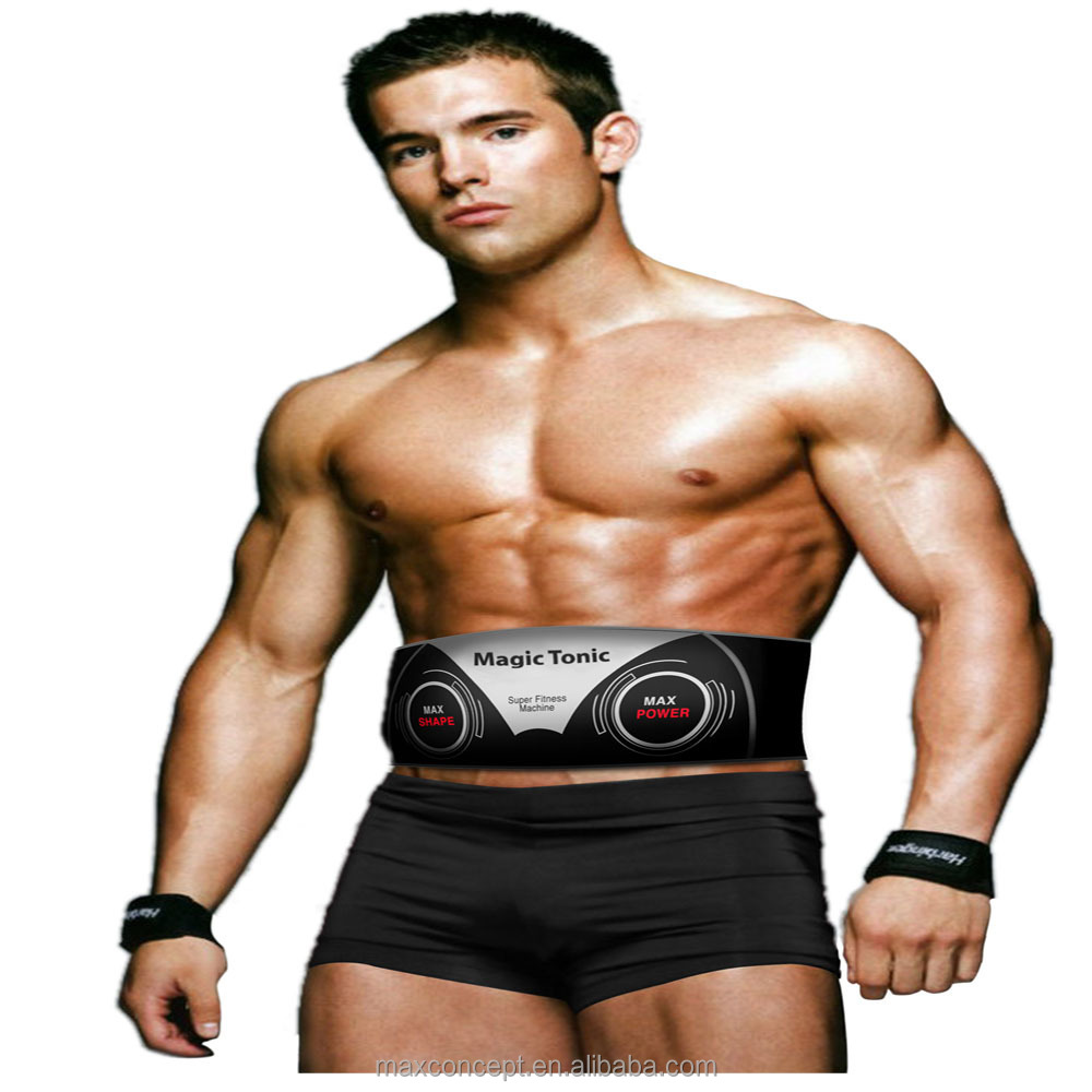 EMS fat burning waist belt heat vibration function