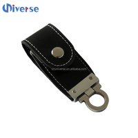 Customized Usb Flash Drive 2.0 Thumbdrives 128Gb 256Gb Usb Memory Stick Leather