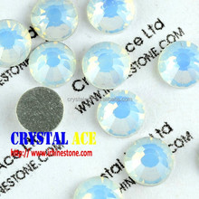White opal crystal rhinestones flat back no hot fix crystal strass